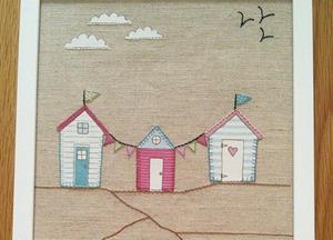 New Beach Huts applique pictures from Pathfield Crafts arrived today  these are £17.00 each...